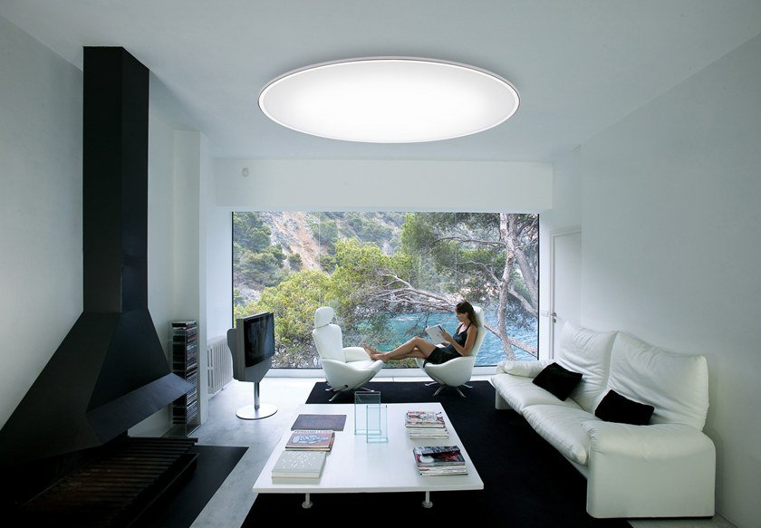Fluorescent ceiling lamp BIG | Ceiling lamp by Vibia