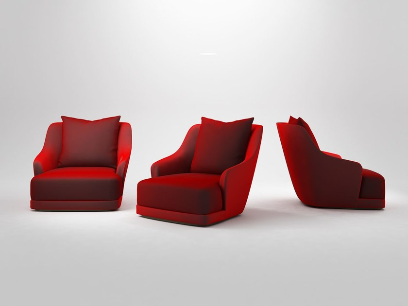 Upholstered fabric armchair BIG HUG by Paolo Castelli