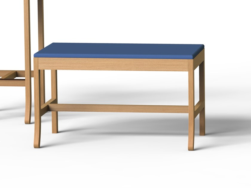 Backless solid wood bench seating BIG JIM | Bench seating by ESTEL GROUP
