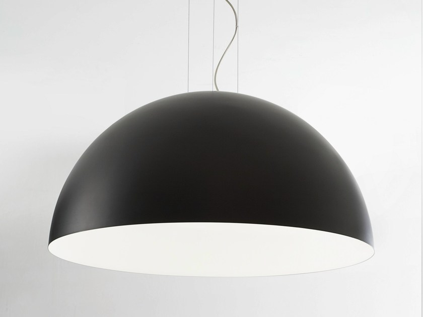 Painted metal pendant lamp big by lucente aloadofball