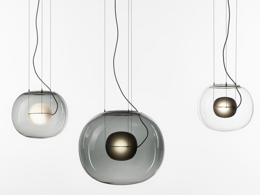 Blown glass pendant lamp BIG ONE by BROKIS