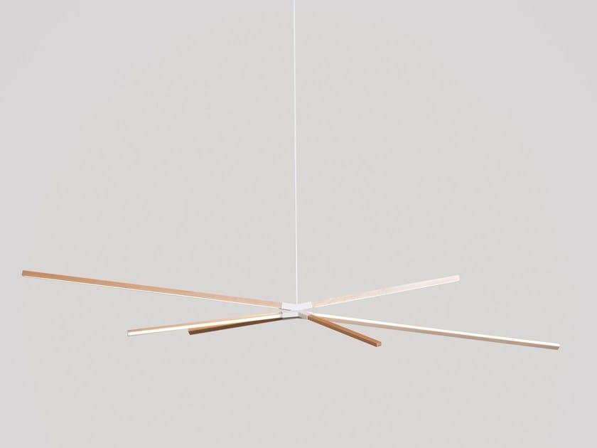 LED wooden pendant lamp BIG SKY BANG by Stickbulb