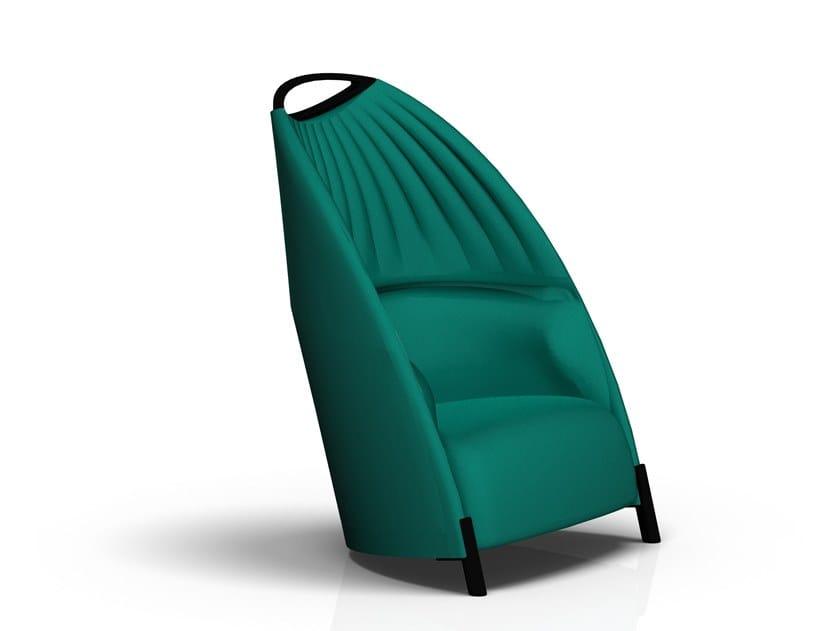 High-back fabric armchair BIGA | Armchair by Luxy