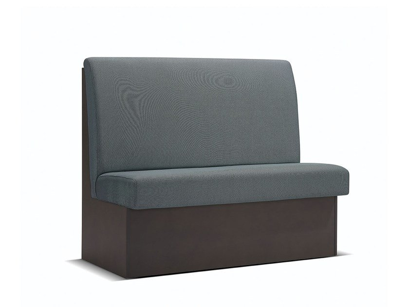 Upholstered high-back fabric bench seating BILBAO BAQ by Fenabel