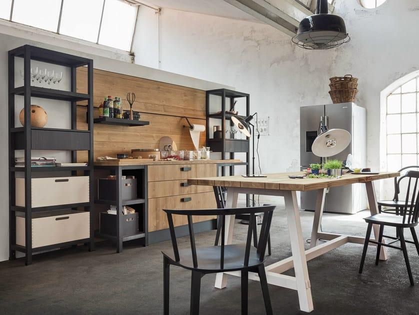 Cucina in legno BILBAO Collezione Fly By Callesella Arredamenti