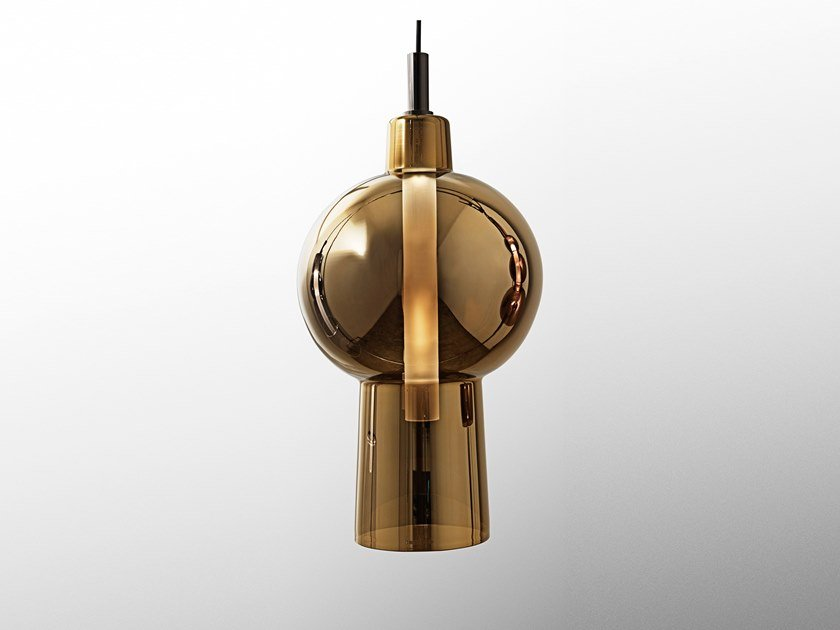 LED direct light glass pendant lamp BILBO by Visionnaire