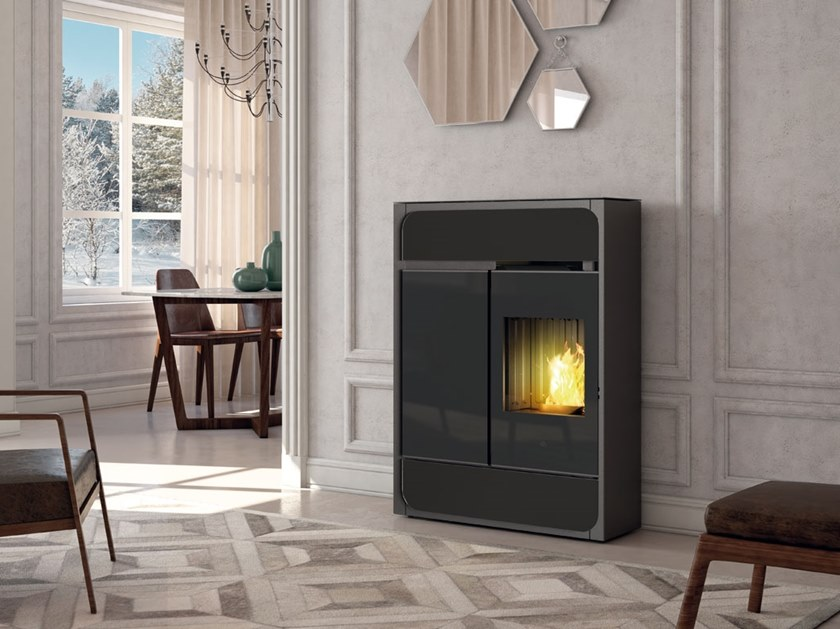 Pellet steel stove BILD AIR TIGHT C by EDILKAMIN