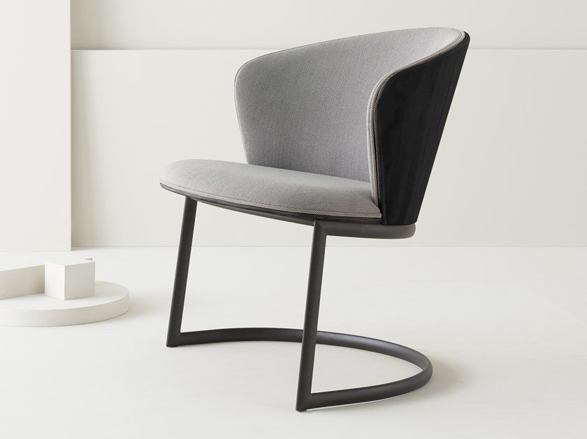 Cantilever upholstered fabric easy chair BILLA | Cantilever easy chair by Segis