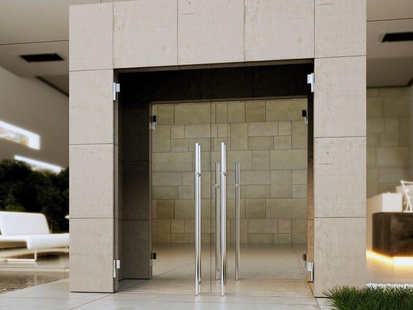 Hydraulic glass door hinge BILOBA EVO 830E by Colcom Group