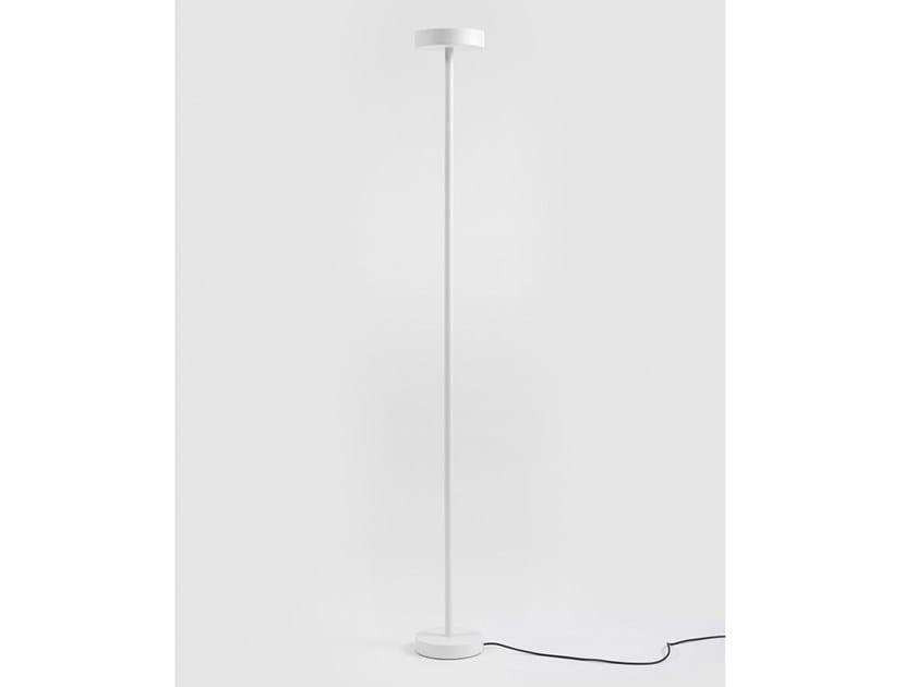 Lampada da terra a LED in metallo verniciato con dimmer BINCAN LIGHT by Danese Milano