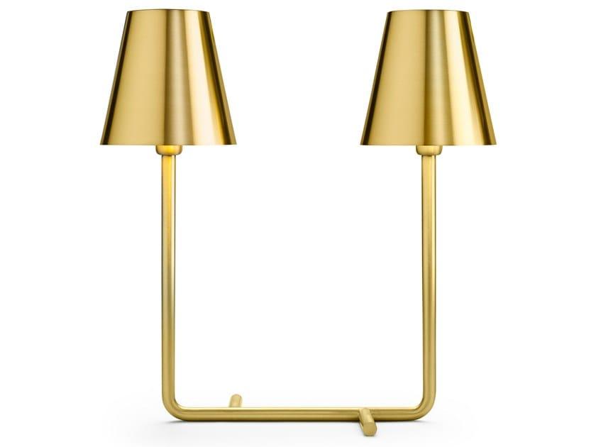 Lampada da tavolo in ottone satinato BIO by GHIDINI1961