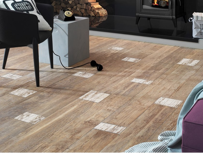 Porcelain stoneware flooring with wood effect BIO RECOVER FRAM by LEA CERAMICHE