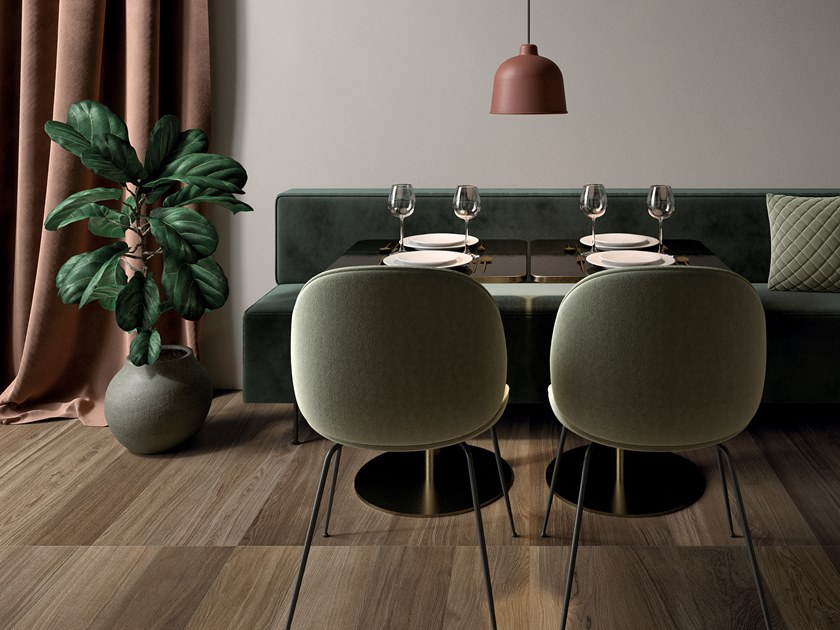 Porcelain stoneware wall/floor tiles with wood effect BIO SELECT OAK CLOVES by LEA CERAMICHE