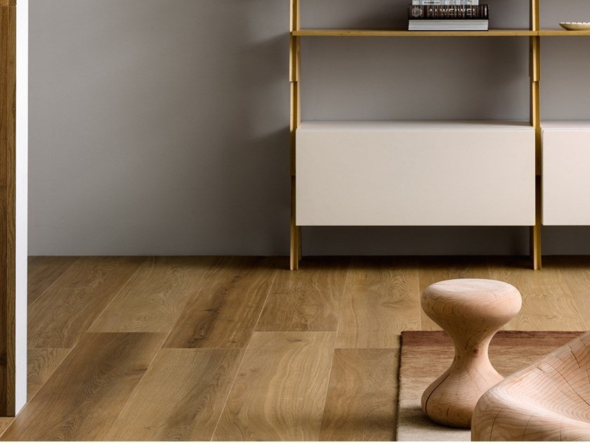 Porcelain stoneware wall/floor tiles with wood effect BIO SELECT OAK NATURAL by LEA CERAMICHE