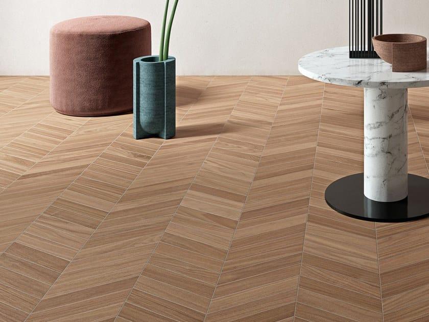 Porcelain stoneware wall/floor tiles with wood effect BIO SELECT OAK WALNUT CINNAMON by LEA CERAMICHE