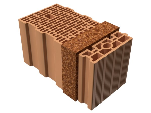 Thermal insulating clay block BIO TRIS® 47X25X25 by T2D