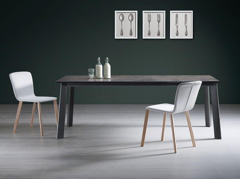 Extending rectangular porcelain stoneware table BIOS | Porcelain stoneware table by Natisa