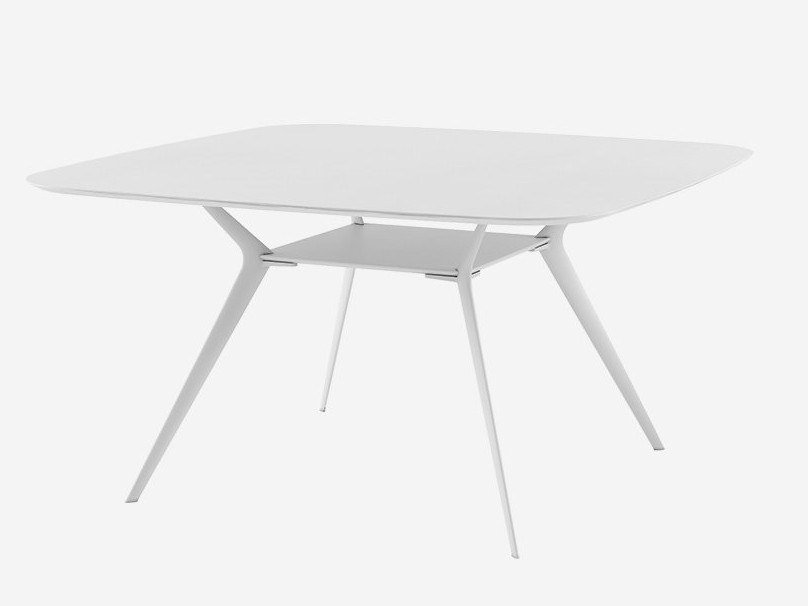 Square table BIPLANE 140X140 / 40C by Alias