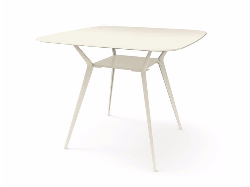Tavolo alto quadrato BIPLANE 140X140 HIGH - 465 Collezione Biplane ...