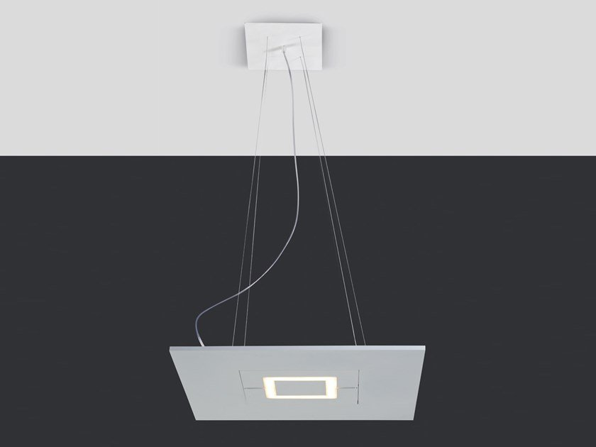 LED swivel pendant lamp BIQUADRO by Cattaneo