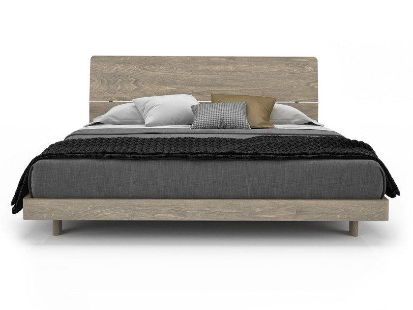 Birch bed double bed ALMA | Birch bed by Huppé