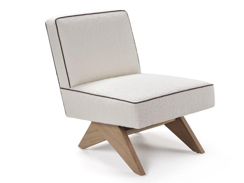 Linen armchair BIRDIE LOUNGE by Blasco