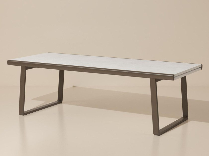 Extending marble garden table BITTA | Marble table by Kettal