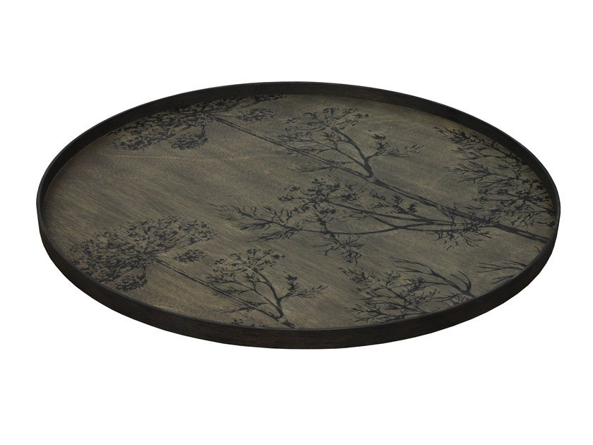 Round wooden tray BLACK DILL by Notre Monde