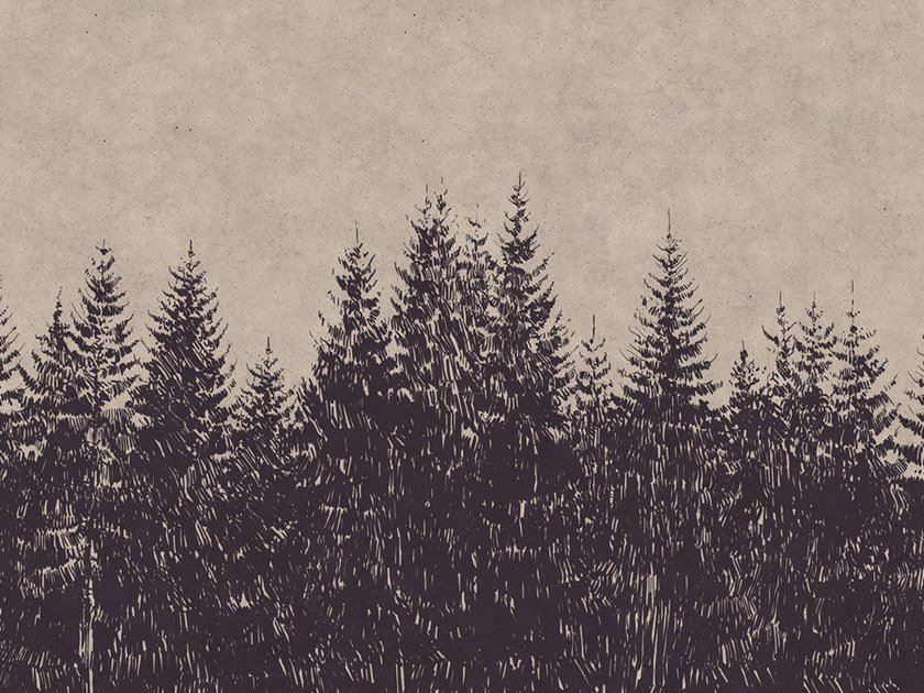 Digital printing landscape wallpaper BLACK FOREST by Architects Paper