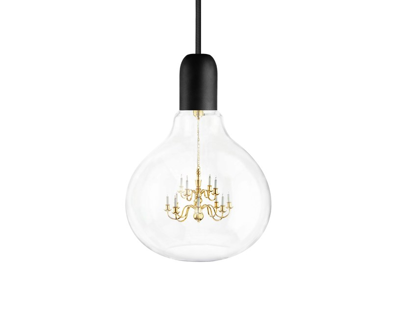 pendant lamp black king edison by mineheart