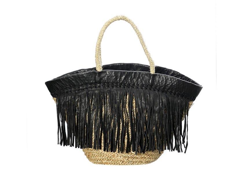 Seagrass bag BLACK LEATHER by Bazar Bizar