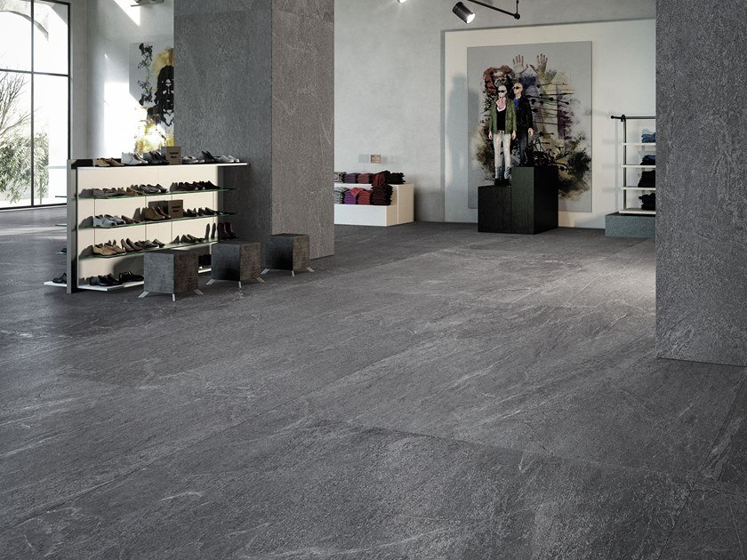 Sintered ceramic wall/floor tiles with stone effect BLACK SEA by ITT Ceramic