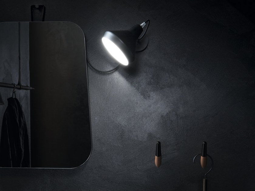 Adjustable Mirror lamp BLACK & WHITE by Cerasa
