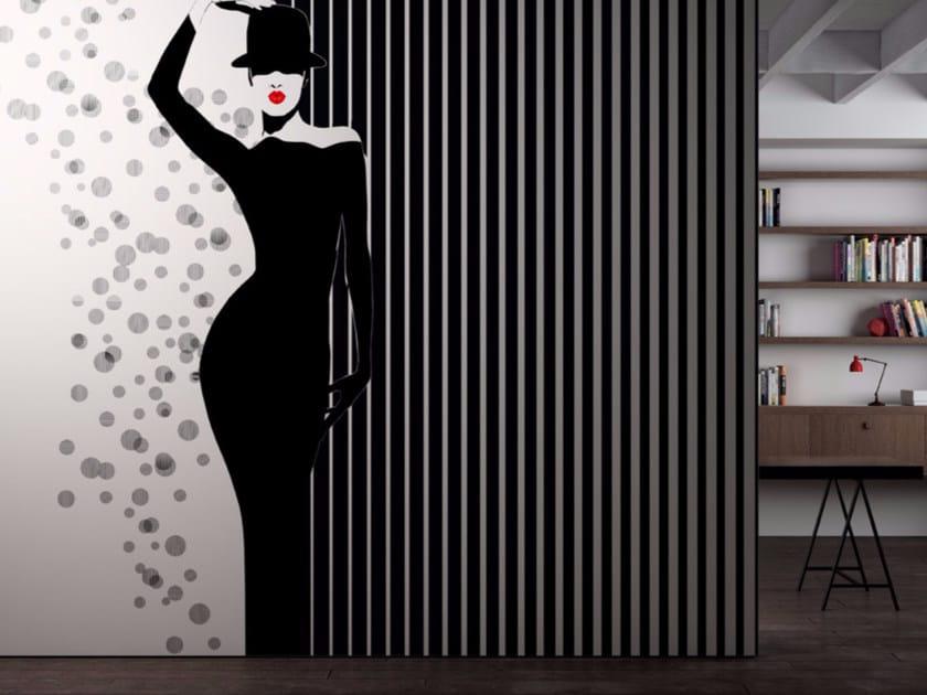 Washable vinyl wallpaper BLACK & WHITE by GLAMORA