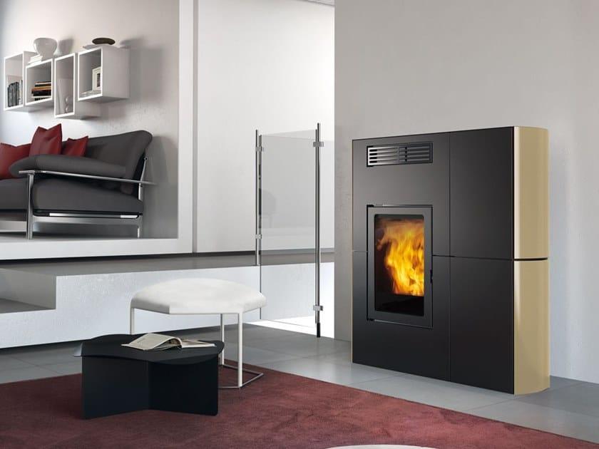 Pellet ceramic stove BLADE | Ceramic stove by EDILKAMIN
