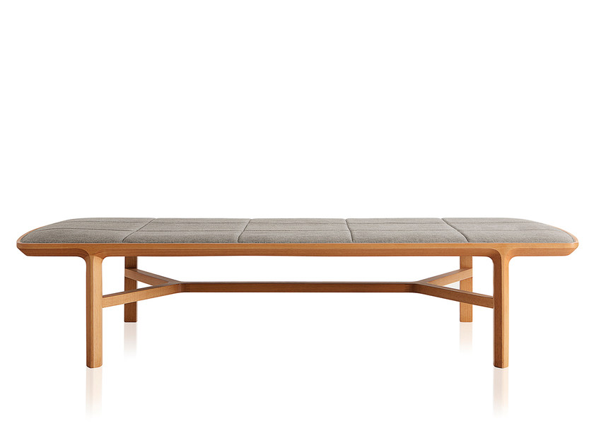 Solid wood bench BLADE | Fabric bench by Sollos