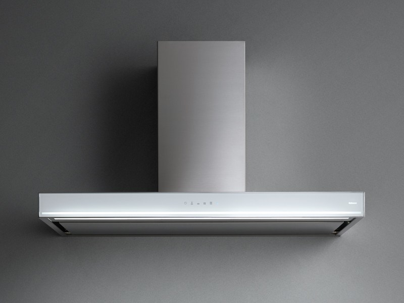 Wall-mounted Glass and Stainless Steel cooker hood BLADE by Falmec