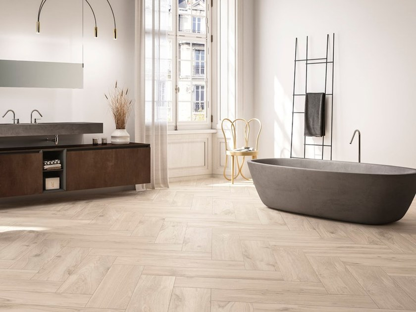 Porcelain stoneware wall/floor tiles with wood effect BLANCHE by GranitiFiandre