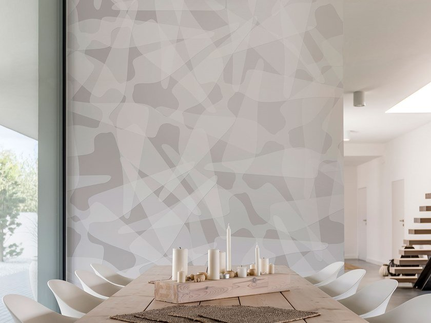 Contemporary style motif washable wallpaper BLANK by Tecnografica Italian Wallcoverings