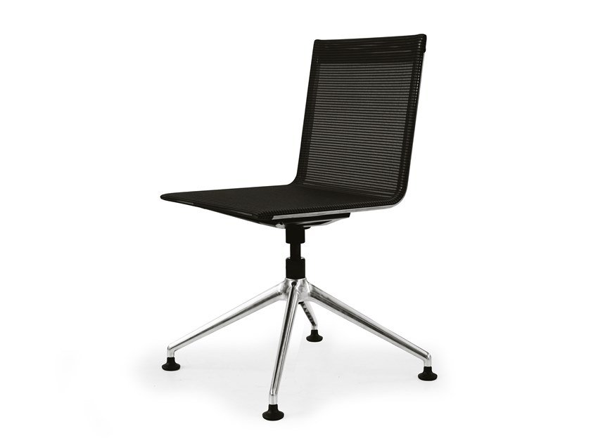 Training chair with 4-spoke base BLAQ CONFERENCE CHAIR by rosconi