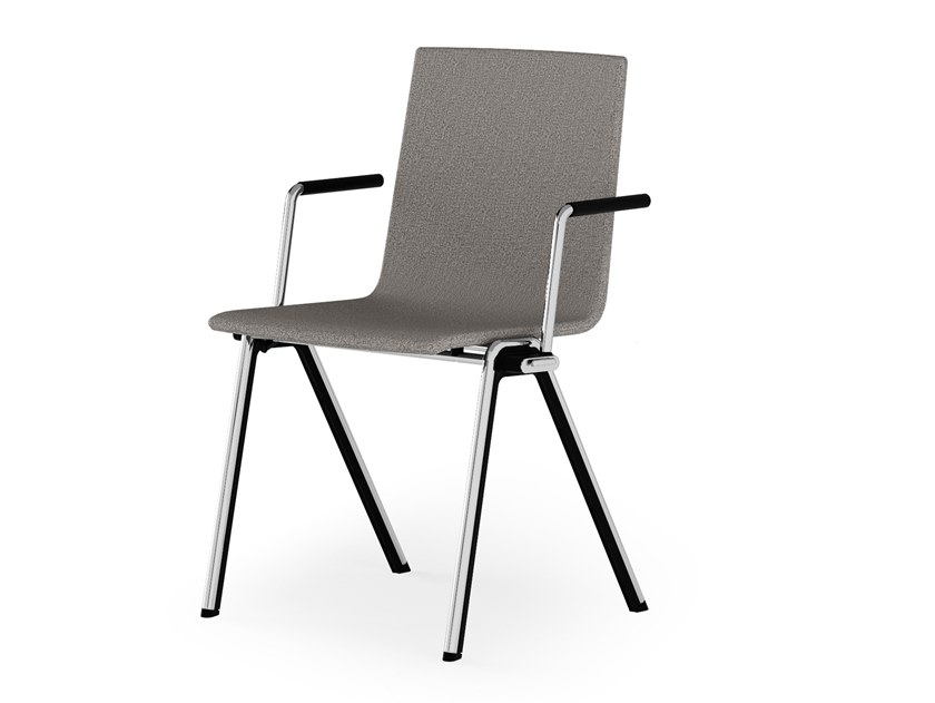 Upholstered chair with armrests BLAQ WOOD   Upholstered chair by rosconi