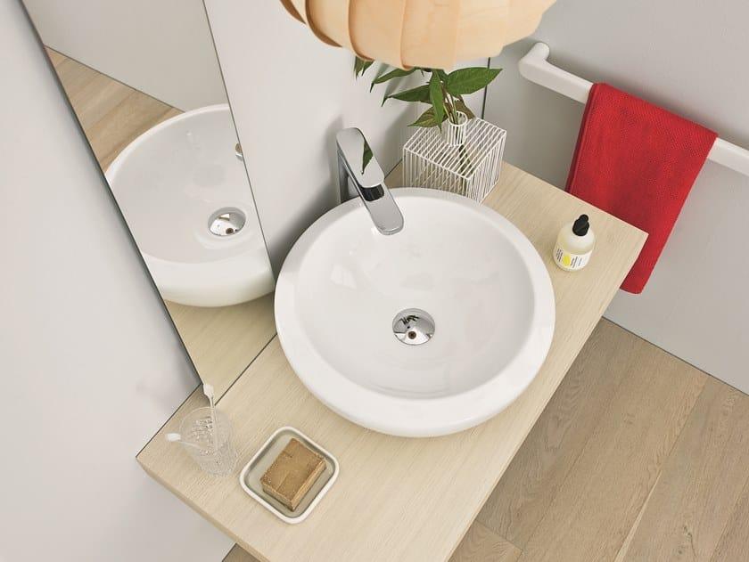 Countertop round ceramic washbasin BLEND | Countertop washbasin by Artceram
