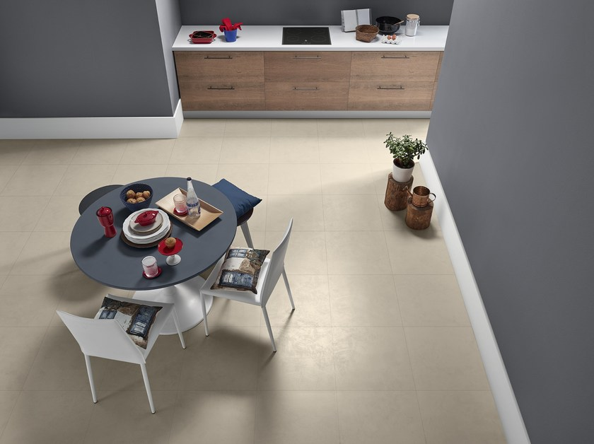 Porcelain stoneware flooring with concrete effect BLEND by Love Tiles