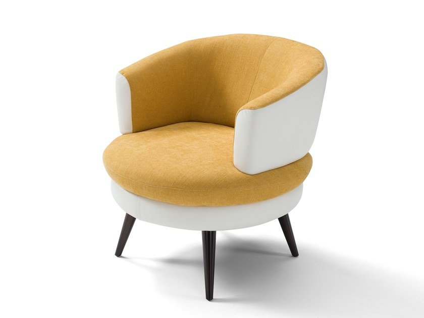 Fabric armchair with armrests BLENDA | Armchair by Max Divani