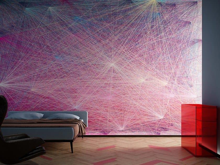 Striped Digital printing wallpaper BLINK by GLAMORA