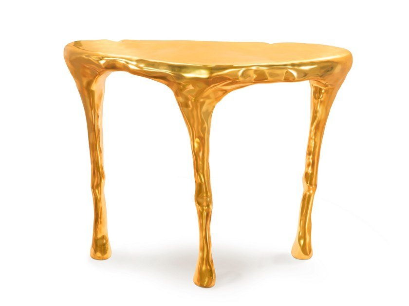 Demilune brass console table BLISS by Scarlet Splendour
