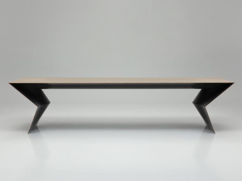 Tavolo rettangolare in legno BLITZ by B&B Italia