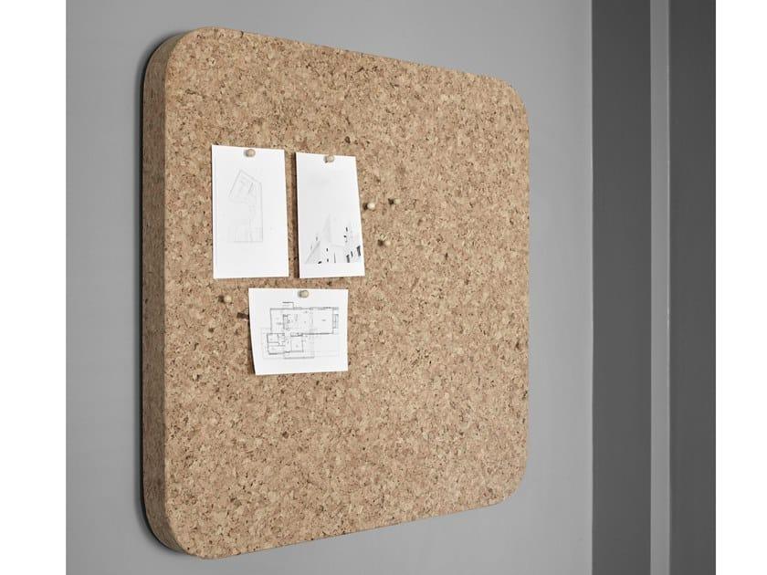 Wall-mounted cork office whiteboard BLOC | Office whiteboard by Lintex
