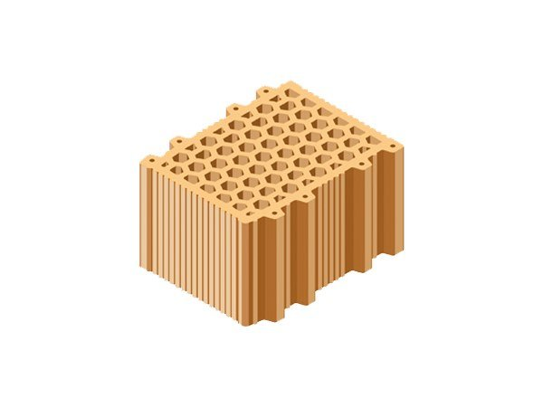 Clay block for internal partition BLOCCO ACUSTICO 30X25X19 by T2D