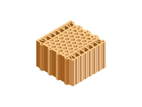 Clay block for internal partition BLOCCO ACUSTICO 30X30X19 by T2D